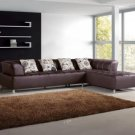 2235 - Modern Bonded Leather Sectional Sofa