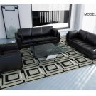 524 - Modern Bonded Leather Sofa Set