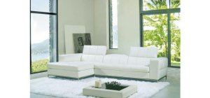 8005 - Modern Bonded Leather Sofa Set