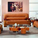 2033 - Modern Bonded Leather Sofa Set