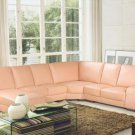 3332 - Modern Bonded Leather Sectional Sofa