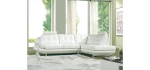 8023 - Modern Bonded Leather Sectional Sofa