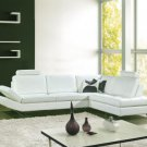 8013 - Modern Bonded Leather Sectional Sofa