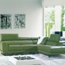 8012 - Modern Bonded Leather Sectional Sofa