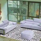 8008 - Modern Bonded Leather Sectional Sofa