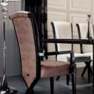 Transitional X Leg Crocodile Leather Dining Arm Chair