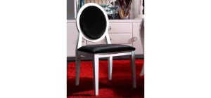 Armani White Lacquer Dining Chair