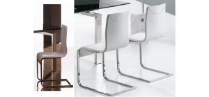 Y022 White modern dining chair