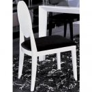 AA018 Modern White/Black Lacquer Chair