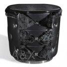 Armani Black Ermine Leather Nightstand