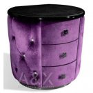 Armani Purple Fabric Nightstand