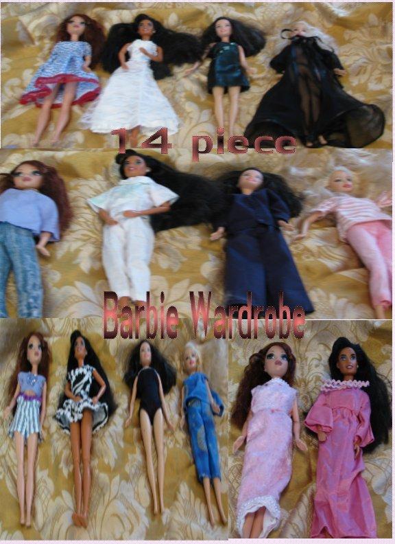 14 piece OOAK Barbie Wardrobe