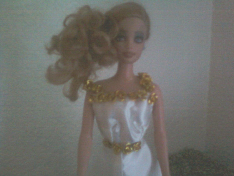 Golden dream OOAK wedding dress for Barbie