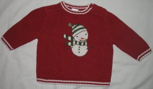 Gymboree Made of Snow Snowman Sweater, Size 3-6