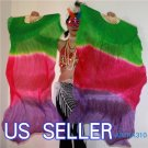 PAIRS 1.5M BELLY DANCE THREE COLORS 100%SILK FAN VEILS