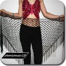 HAND MADE BLACK BELLY DANCE HIP MESH SCARVES