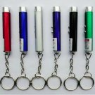 5mW Powerful RED Laser Pen Pointer LED Flashlight Cash-check Lamp 3 in 1 with Keychain