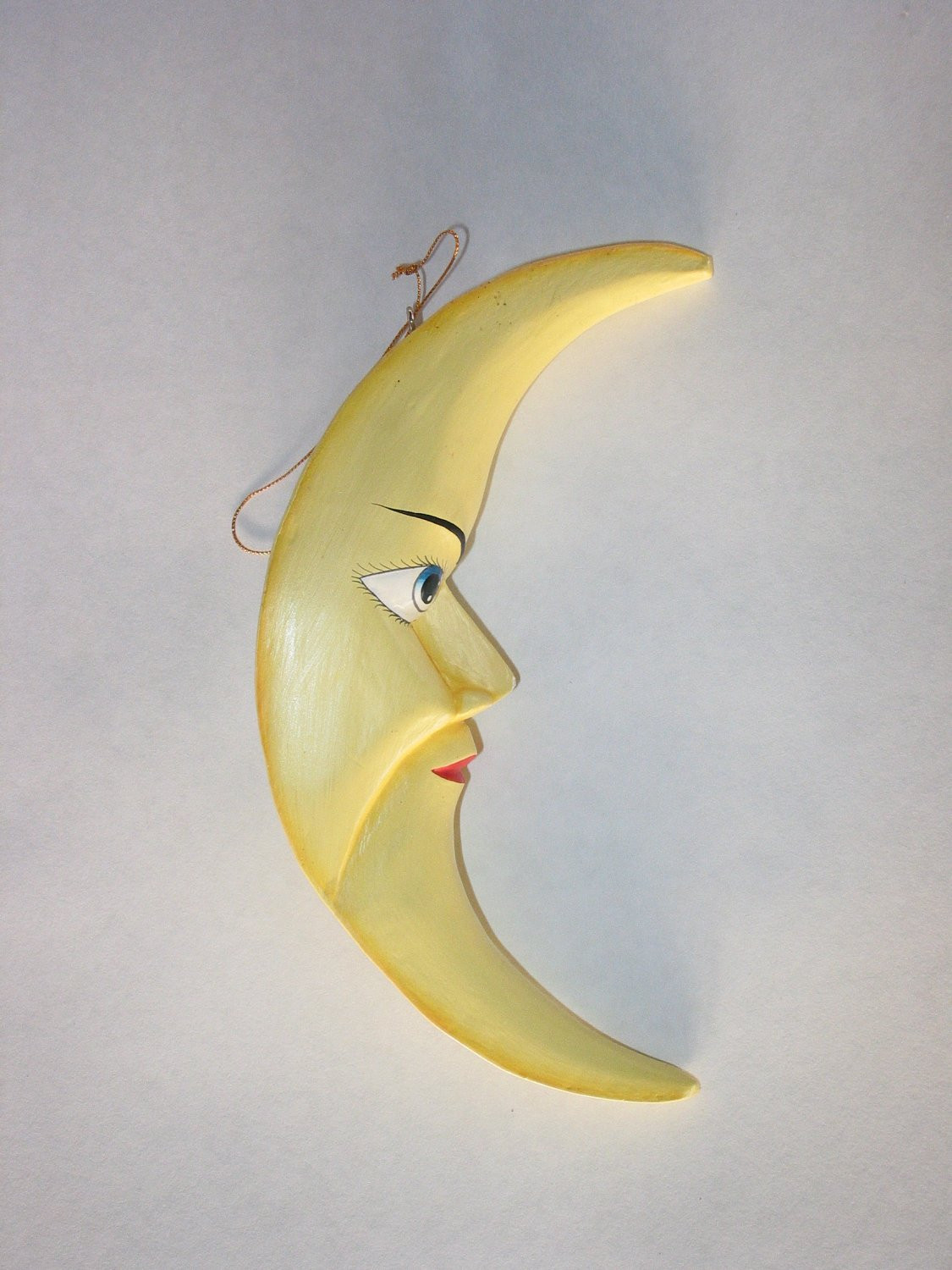 Large Yellow Crescent Moon