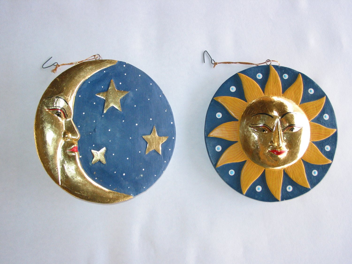 Gold Faced Sun and Moon