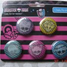 Monster High 5 Freaky Flip Pins!