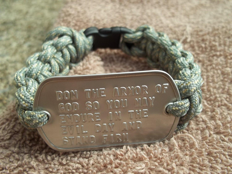 Soldier's Prayer Survival Paracord Bracelet Eph 6:13
