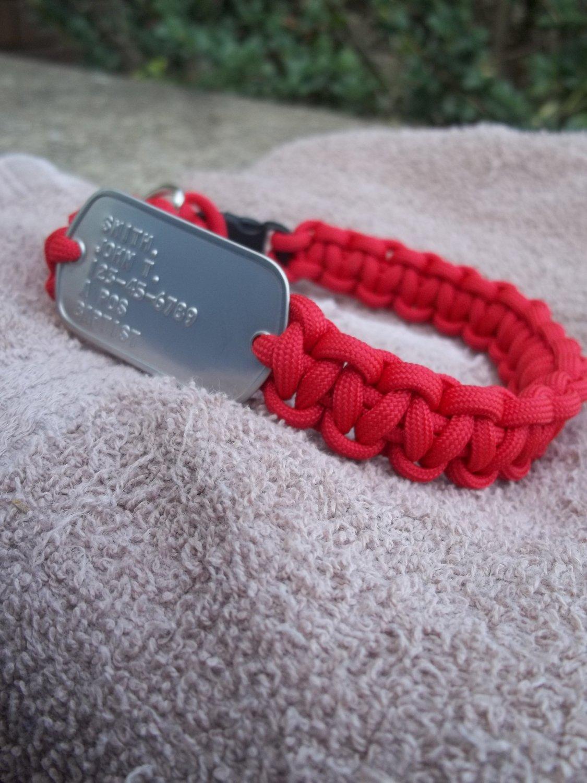 Custom Paracord Collar with Custom Dogtag