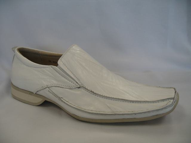 White Geuine Leather Dressing Shoes