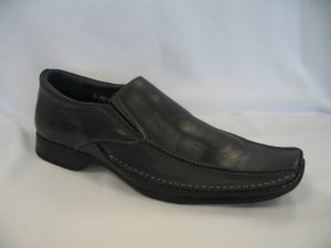 Grey Geuine Leather Dressing Shoes