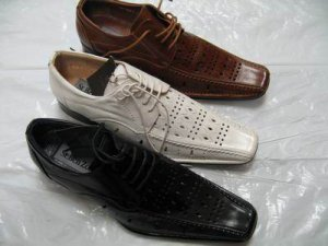 White Geuine Leather Dressing Shoes Summer