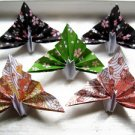 """100 small 3"""" Pattern Origami Paper Peacock Cranes Bird Card Holder"""