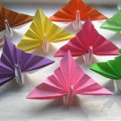 "100 small 3"" Wedding Card Holder Multi-color Origami Paper Peacock"