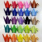 """100 3"""" origami paper cranes birds black red blue green pink yellow"""