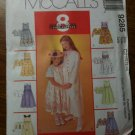 McCall's 9285 Children's and Girls' Dress and Jacket Size CJ 10-12-14