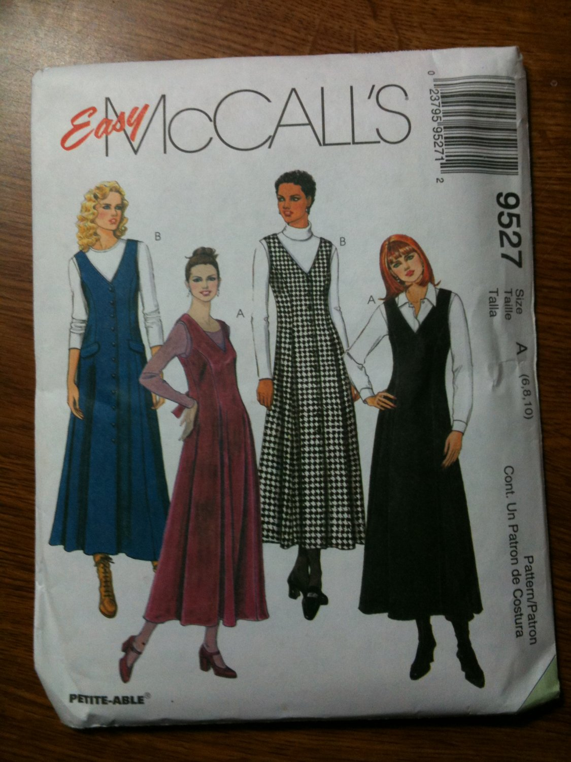McCall's 9527 Misses Jumpers Size A 6-8-10