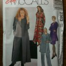 McCall&#39;s 2363 Women&#39;s Unlined Duster or Jacket, Dress in Two Lengths or Top and Pants Size K