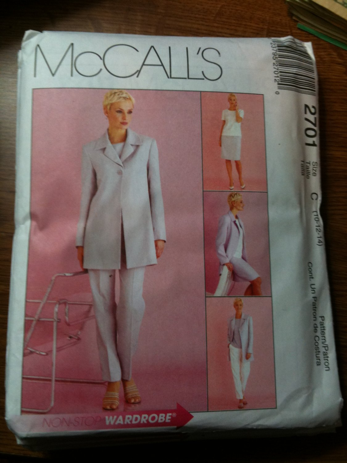 McCall's 2701 Misses'/Miss Petite Lined Jacket, Top, Pants and Skirt Size E 14-16-18