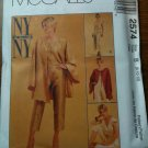 McCall&#39;s 2574 Misses&#39; Unlined Jacket, Top, Capri Pants and Side Tie Pants Size B 8-10-12