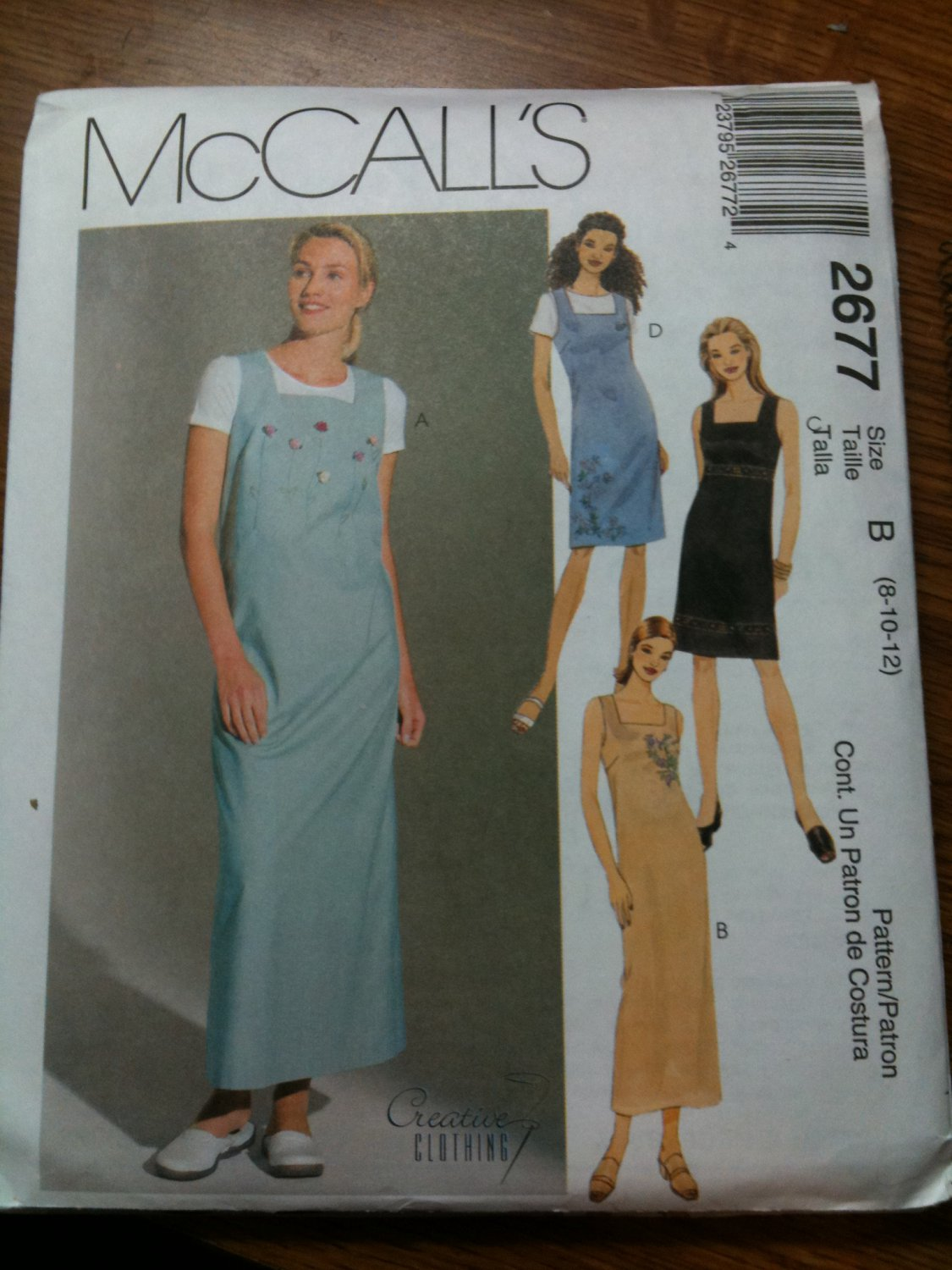 McCall's 2677 Misses' Dress or Jumper in Two Lengths Size A 6-8-10