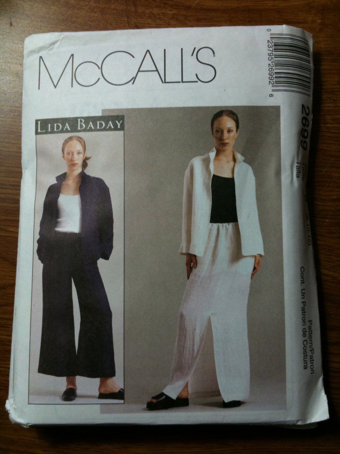 McCall's 2699 Misses'/Miss Petite Unlined Jacket, Pants and Skirt Size B 8-10-12