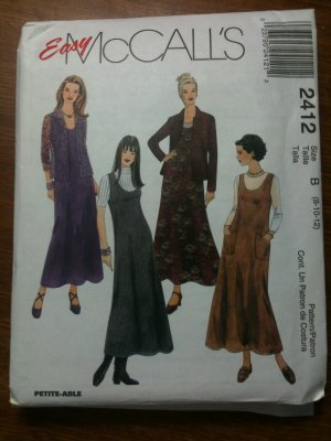 McCall&#039;s 2412 Misses&#039; Jumper and Shirt-Jacket Size C 10-12-14