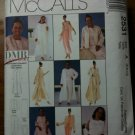 McCall's 2531 Misses' Duster, Jacket, Top, Pants, Skirt and Stole Size E 14-16-18
