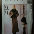 McCall's 2495 Misses' Lined Jacket and Dress Size AX 4-6-8