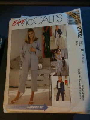 McCall&#039;s 2702 Misses&#039;/Miss Petite Shirt-Jacket, Dress or Top and Pants in Two Lengths Size B
