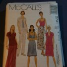 McCall's 2741 Misses'/Miss Petite Shirt, Dress or Top, Wrap Skirt and Pull-on Pants Size B 8-10-12