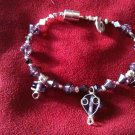 Purple Heart Bracelet Swarovski Crystals