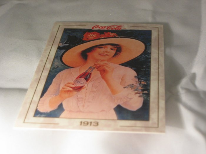 Coca Cola Girl MINT Trading Card Wide Hat 1993 #19