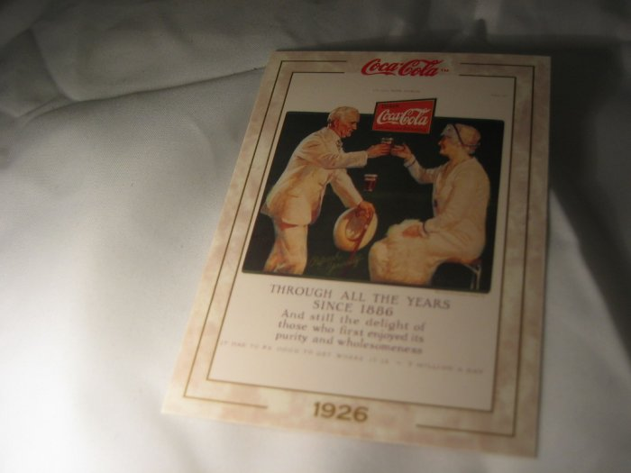 Coca Cola Trading Card #25 Old Memories 1926