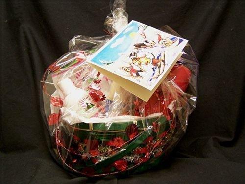 Dog Pet Gift Christmas Basket -Toy Chews Holistic Treats Shampoo Fine Art Card
