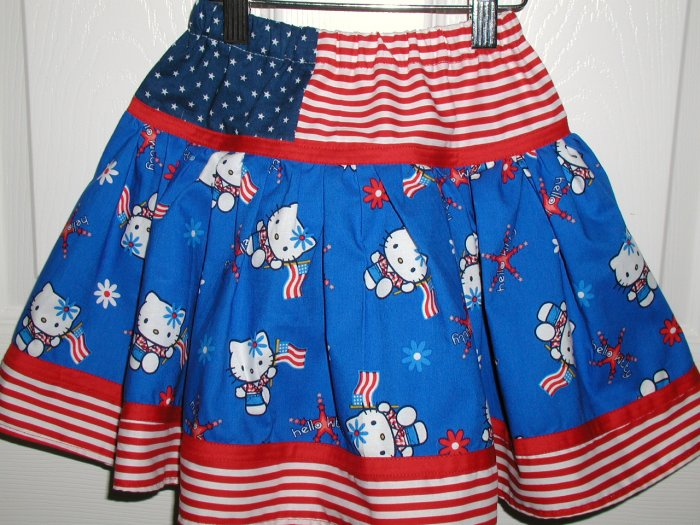 Custom Hello Kitty Patriotic Skirt