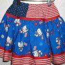 Custom Hello Kitty Patriotic Skirt